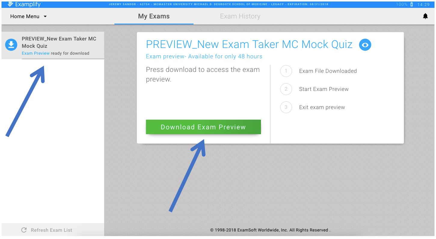 How do faculty and staff preview an assessment? · Medportal